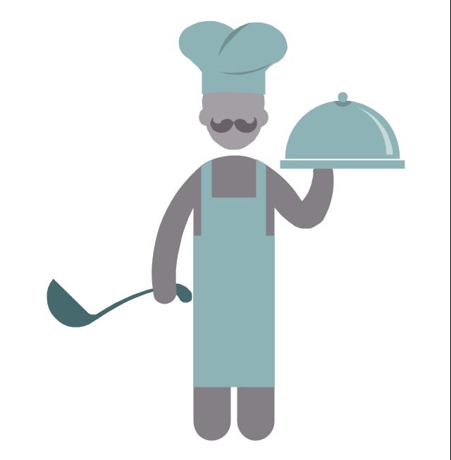 Chef, chef, chief-cooker, profession icon,