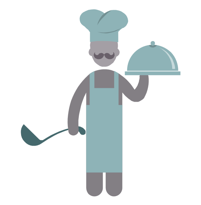 Chef, chef, chief-cooker, profession icon,