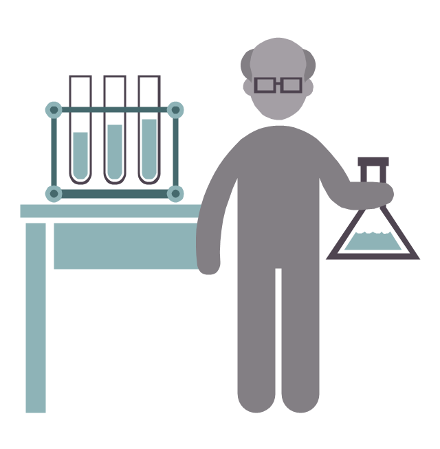 Chemist, chemist, profession icon,