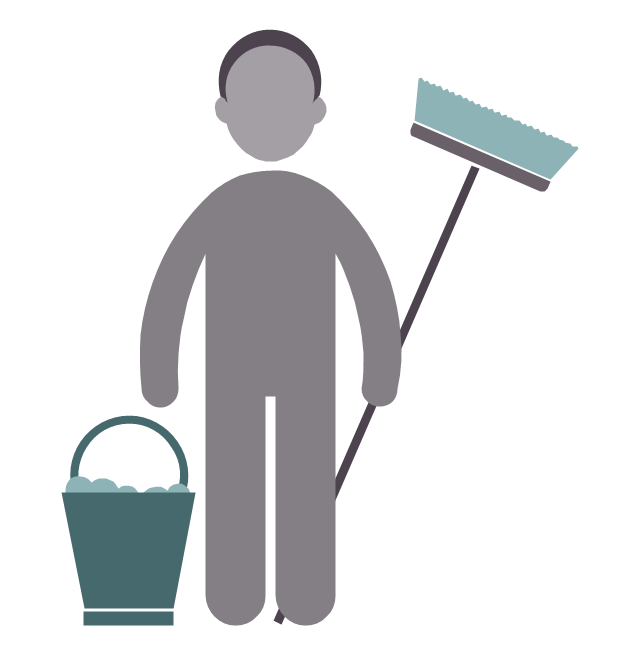 Cleaner, cleaner, profession icon,