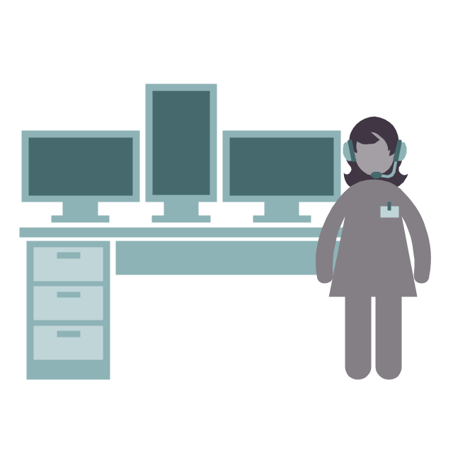 Dispatcher, reporter, dispatcher, profession icon,