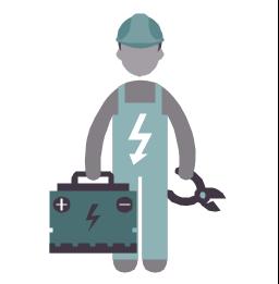 Electrical engineer, electrical engineer, electrician, profession icon,