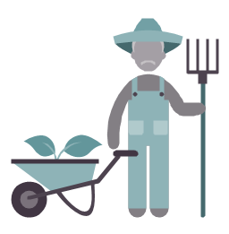 Farmer, farmer, profession icon,