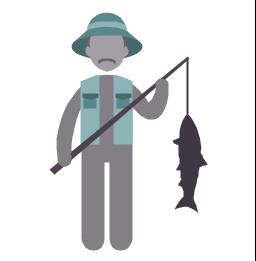 Fisherman, fisherman, profession icon,