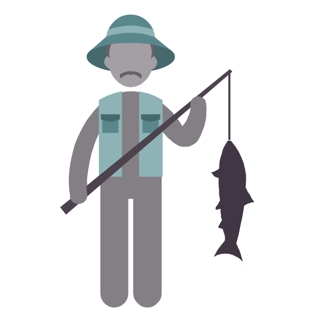 Fisherman, fisherman, profession icon,
