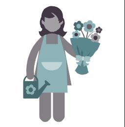 Florist, florist, profession icon,