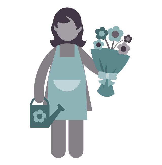 Florist, florist, profession icon,