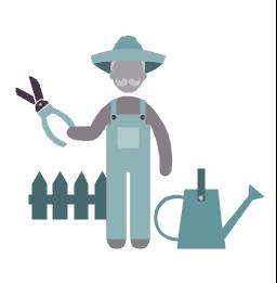 Gardener, gardener, profession icon,