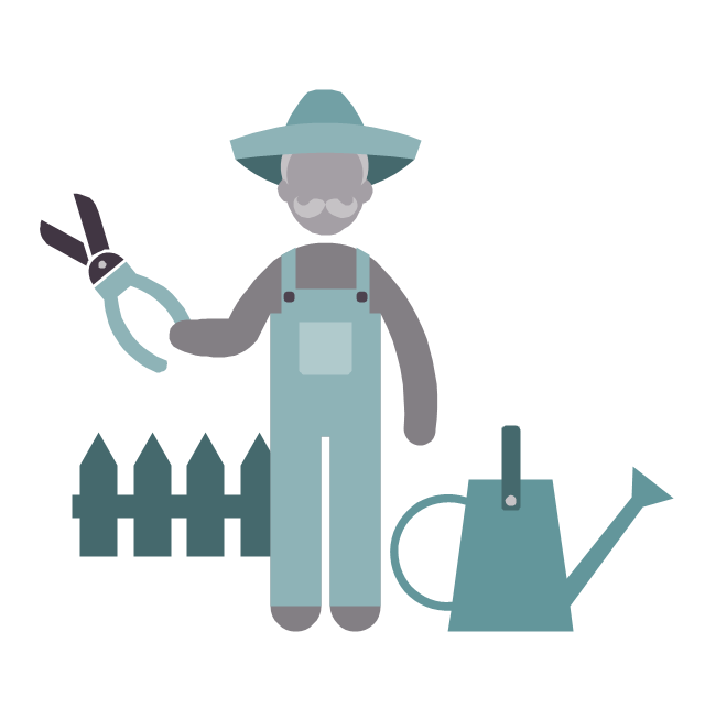 Gardener, gardener, profession icon,