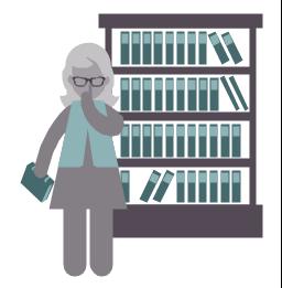 Librarian, librarian, profession icon,