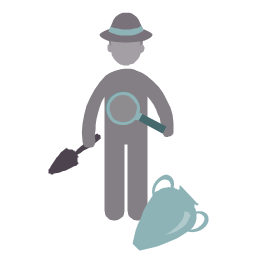 Archaeologist, archaeologist, profession icon,