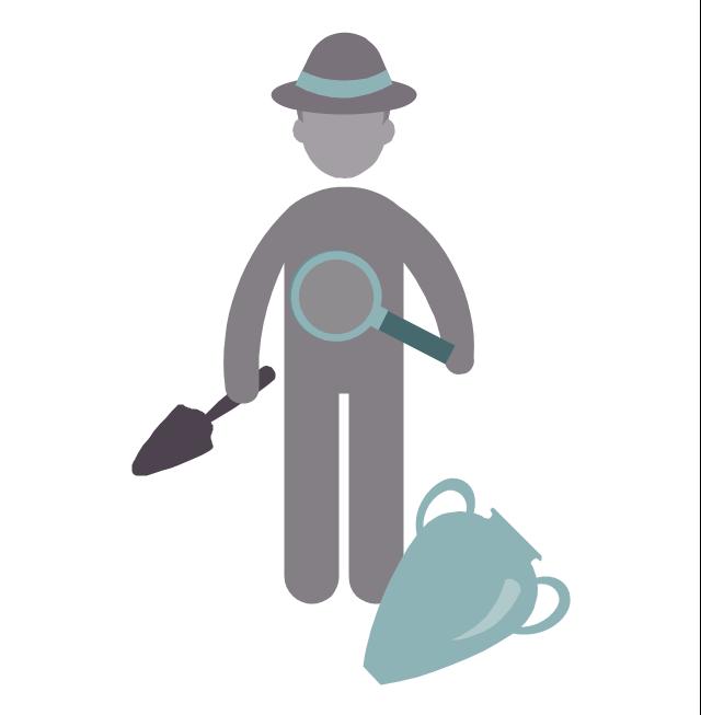 Archaeologist, archaeologist, profession icon,