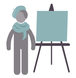 Artist, artist, painter, profession icon,
