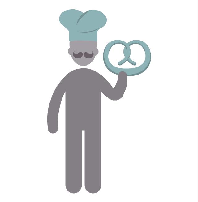 Baker, baker, profession icon,