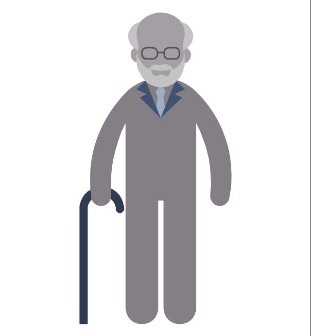 Pensioner, pensioner, old man,