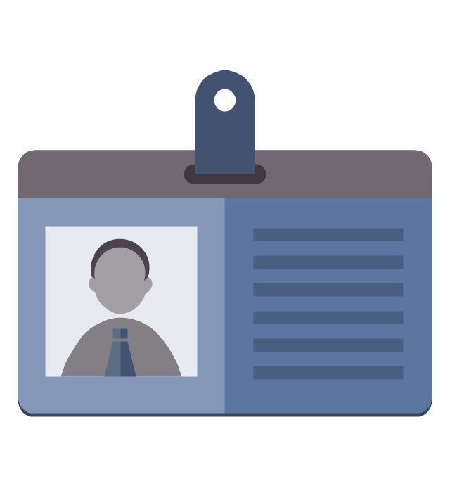 Personal data (badge icon), personal data, badge icon,