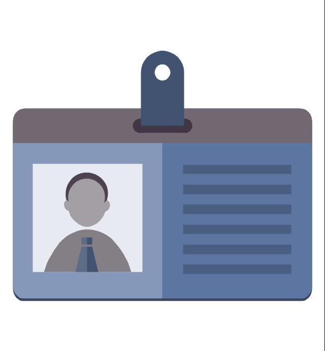 Personal data (badge icon), personal data, badge icon,