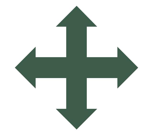 Crossed arrows, crossed arrows,