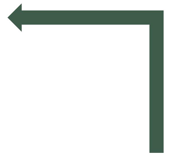 Turn left arrow, turn left arrow,