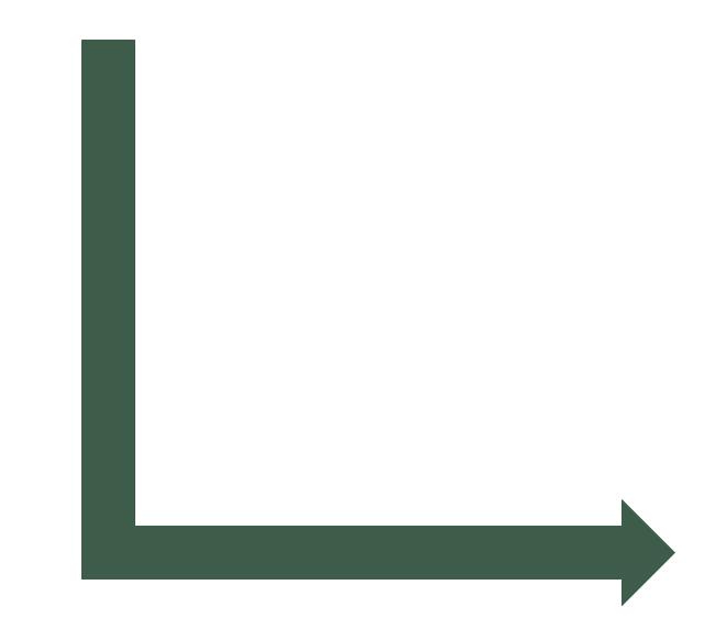 L-shaped arrow, L shaped arrow,