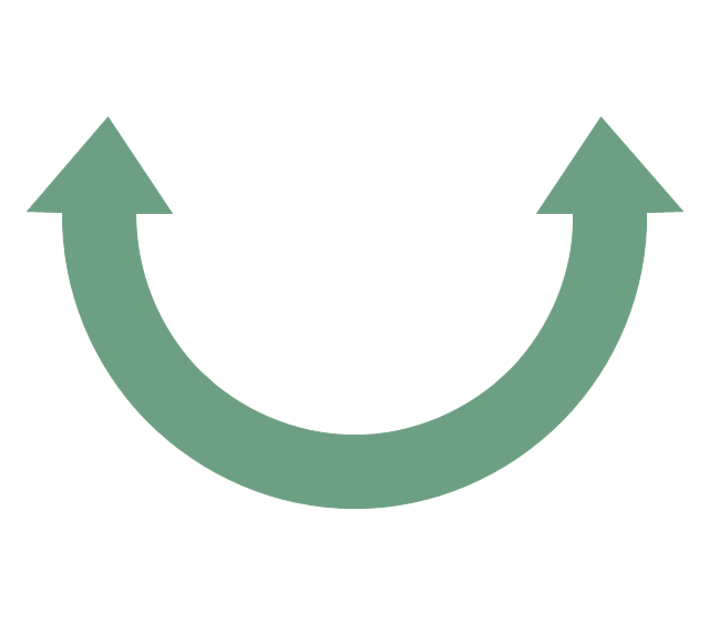 Double headed semicircle arrow, double headed semicircle arrow,