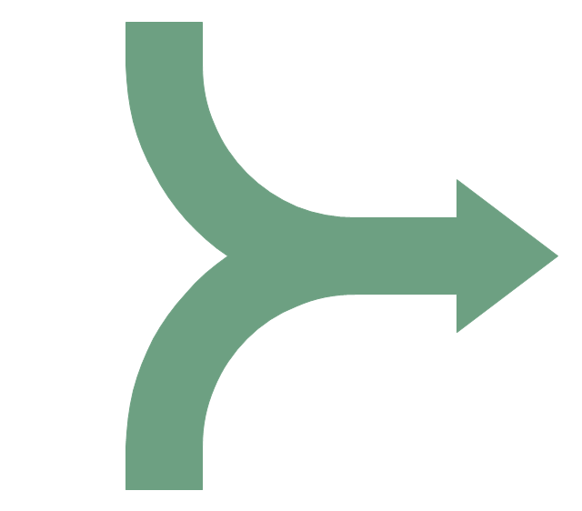 Merging arrows, merging arrows,