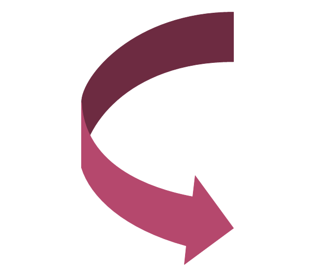 Curved right arrow, curved right arrow,