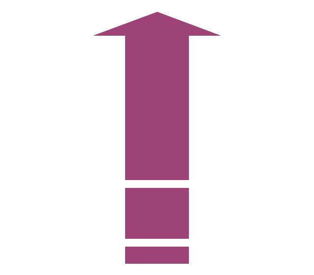 Vertical moving arrow, vertical moving arrow,