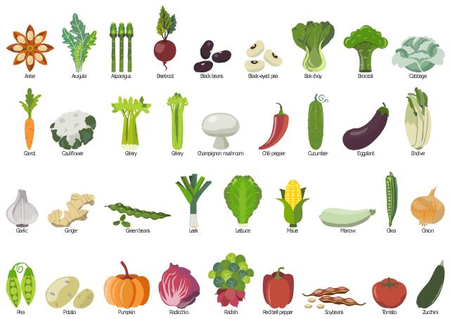 Design elements - Vegetables  Design elements...
