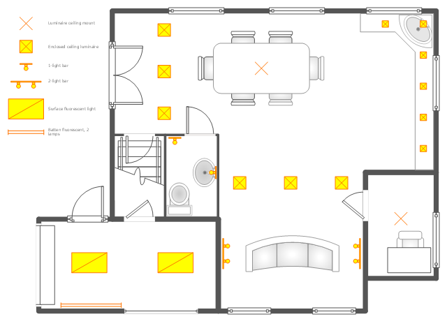 Ground floor RCP | House Electrical Plan Software. Electrical ...