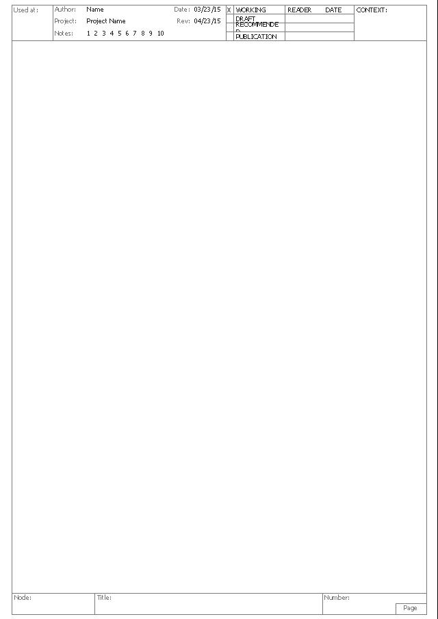 Standard diagram form, IDEF standard diagram form,