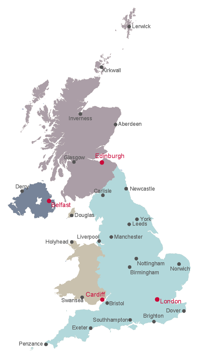 Map Of England Showing Yorkshire.British Isles Map