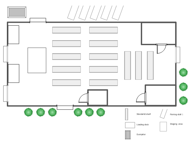 Warehouse floor plan template gurus floor for Warehouse floor plan design software free