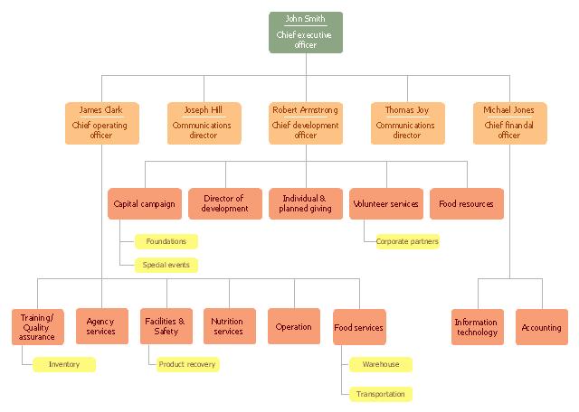 Organizational chart, executive,