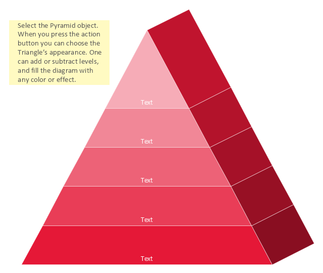 pyramid diagram template triangle chart template 3d triangle