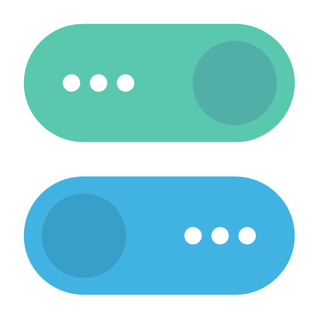 Toggle buttons, toggle buttons,