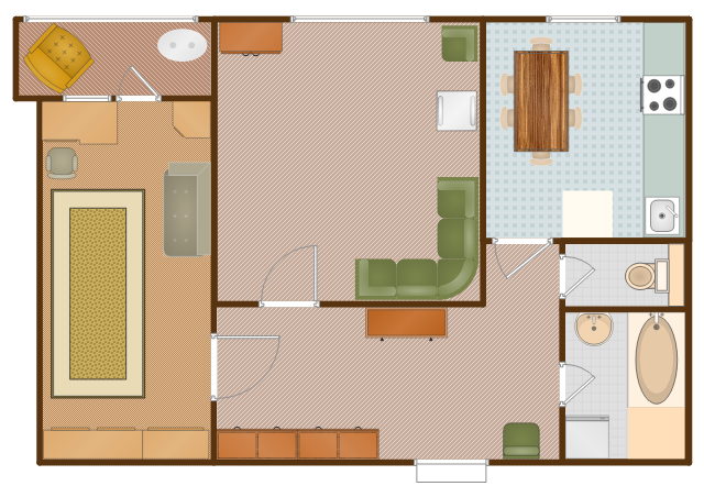 Flat Design Floor Plan Apartment Plan Security System