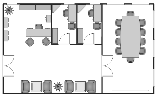 Office layout plans office layout small office floor for Office desk layout planner