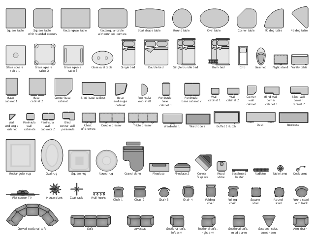 How To Use Furniture Symbols For Drawing Building Plan