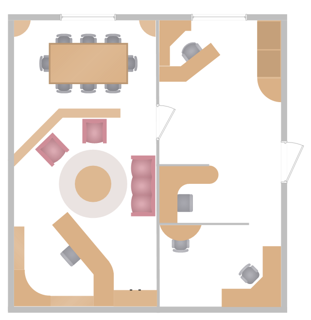 Office layout plan for Office furniture layout planner