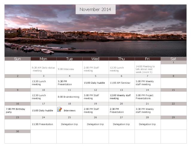 Calendar, special day, month calendar,