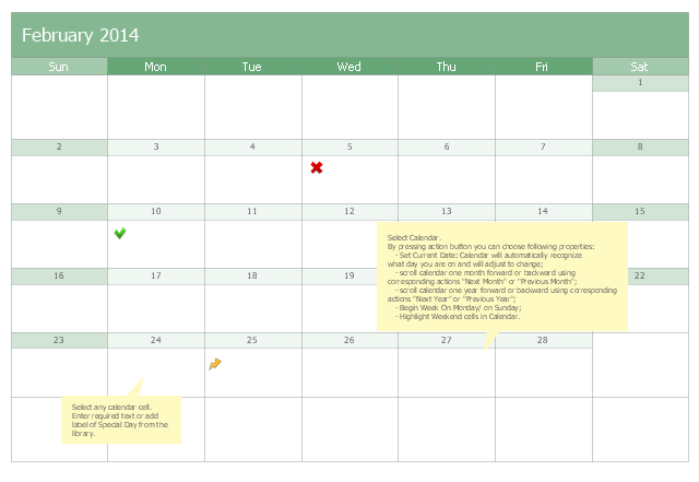 Calendar template, special day, month calendar,