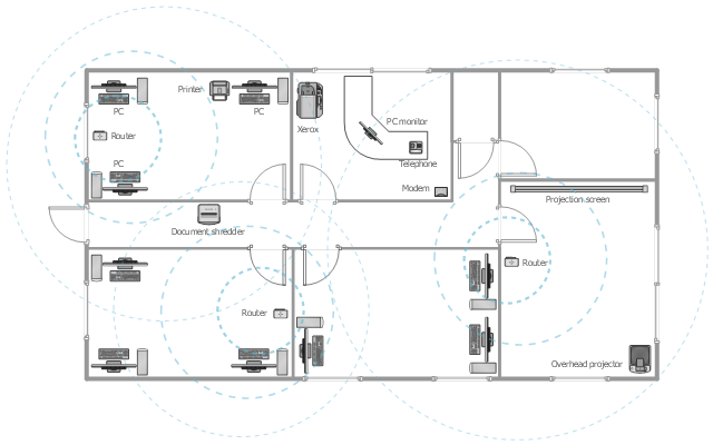 Office wireless network plan for New office layout design