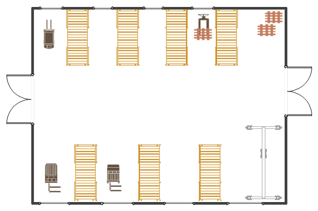 Warehouse layout floor plan warehouse with conveyor for Draw layout warehouse