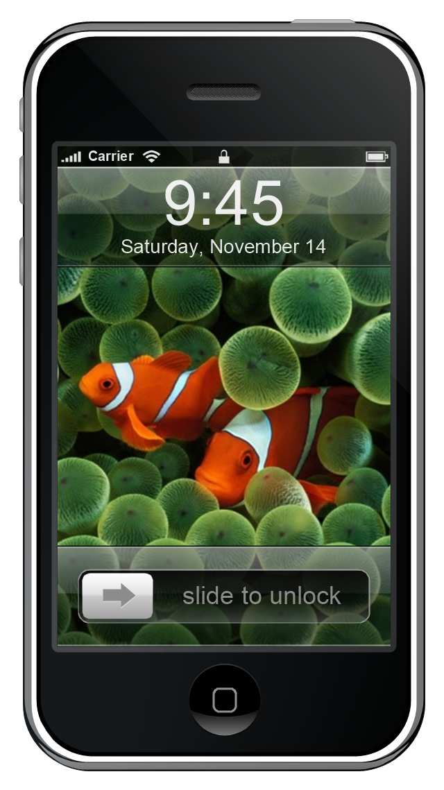 iPhone GUI, iPhone, display,