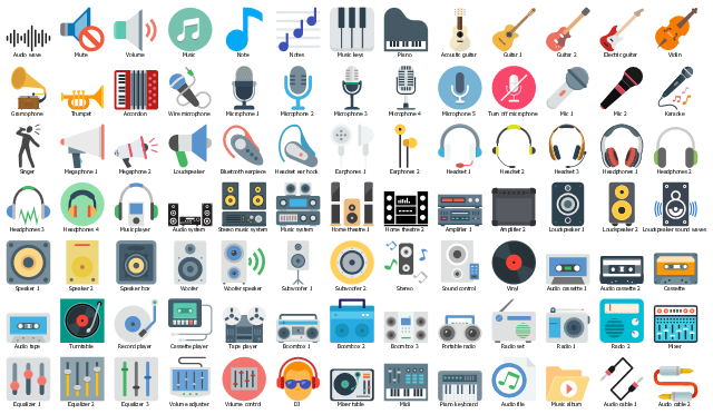 Vector clip art, tweeter, subwoofer, speaker, remote control, control, mixer, microphone, loudspeaker, iPod Touch, iPod, iPod Classic, iPod, horn speaker, home theater, headphones, wireless headphones, headset, earphones, earpieces, earflaps, headphones, headset, earphones, earpieces, earflaps, boom box, boombox, bluetooth, bluetooth mobile phone headset, audio power amplifier, amplifier, acoustic amplifier, MP4 player, MP3 player,