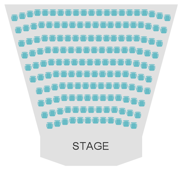Seat layout, stage, chair,