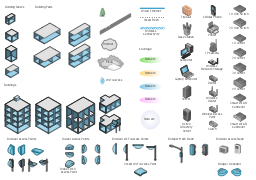 Wireless network drawing design elements wireless for Indoor wireless network design