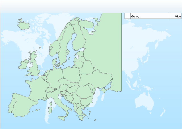 Europe spatial dashboard template, Europe,