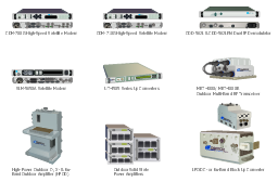 Comtech and Motorola telecommunication network equipment,